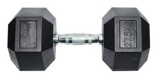 Mancuerna Hexagonal Encauchetada 27.5 Kg Movifit Gym Fitness
