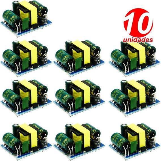 10x Mini Fonte 12v 400ma Conversor Ac Dc Esp8266, Esp32, Pic