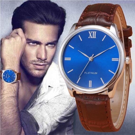 Elegante Reloj Analogico De Pulsera Geneva Hombre Calidad