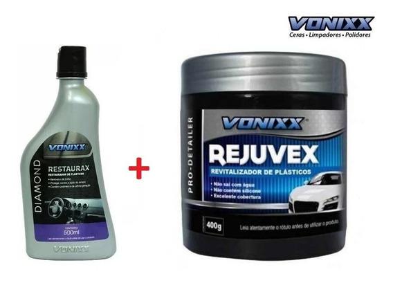 Restaurax Restaurador Plásticos Diamond + Rejuvex Vonixx