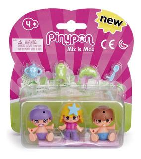 Pin Y Pon Bebès Y Niños X 3 Con Accesorios Original
