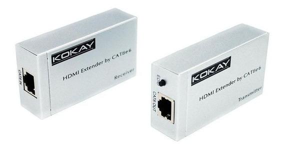 Extensor Hdmi Cat6 3d 1080p 20 Metros Chip Sce ¿ 075-7190