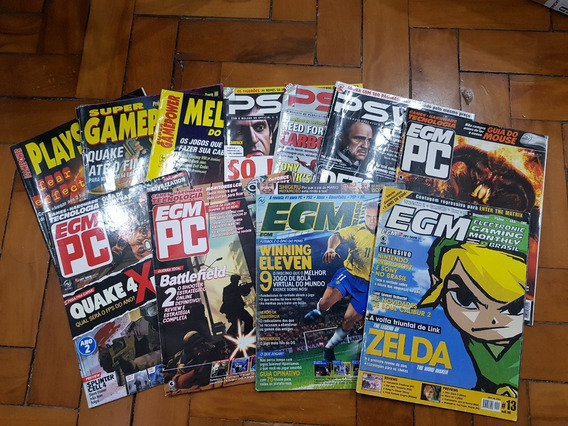 Kit Com 11 Revistas Game Jogos Egm Psworld Supergamepower