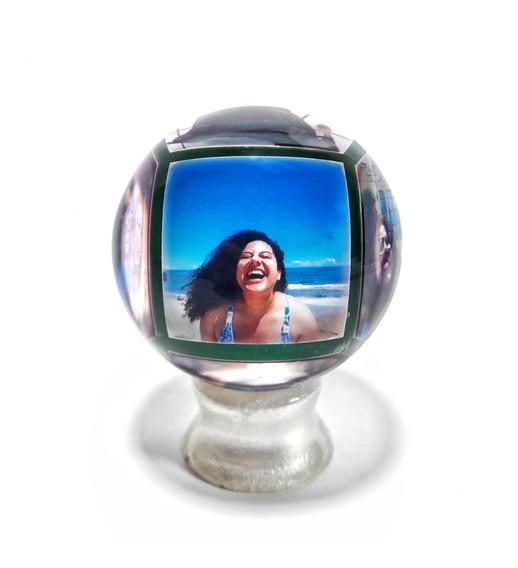 Bola De Cristal Personalizada Com 6 Fotos De Sua Preferência