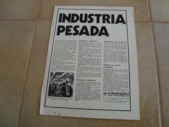 Propaganda Antiga Kawasaki Industries 1974 Motos Peças