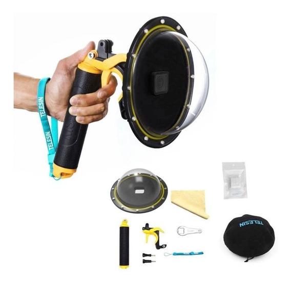 Dome Para Câmera Atrio 4k Gopro Hero 3 E 4 Sjcam6 E 7
