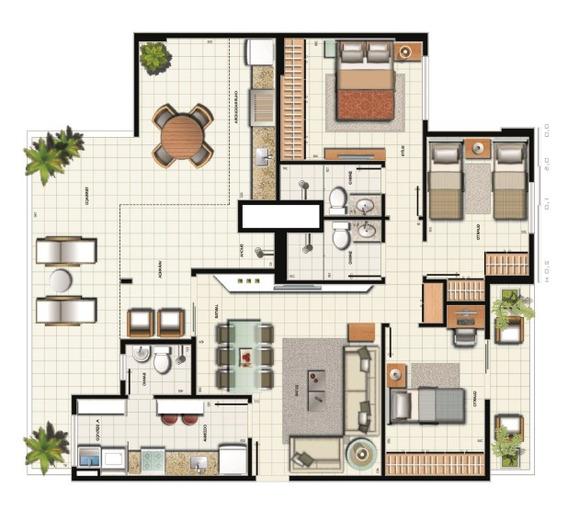Apartamento Cobertura Linear 3 Quarto 1 Suite Df Samambaia