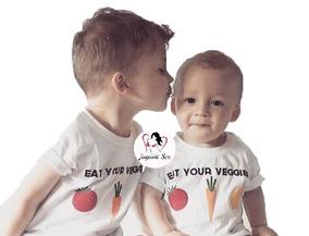 Playera Para Niño Eat Your Veggies Come Tus Vegetales Licr