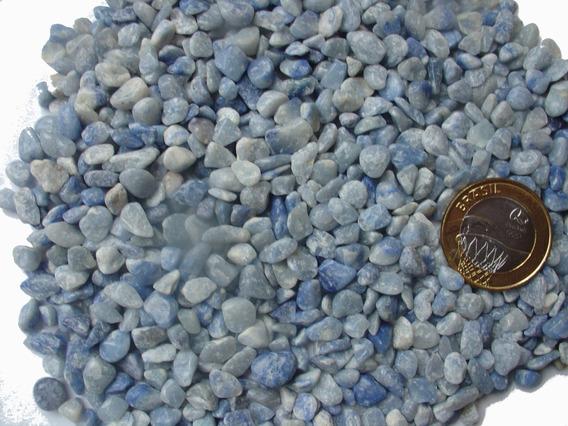 Pedras De Cristal De Quartzo Azul Roladas Pequeno 200gr