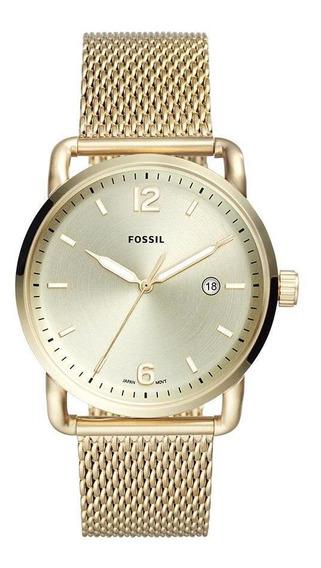 Relógio Fossil Masculino The Commuter Dourado - Fs5420/1dn