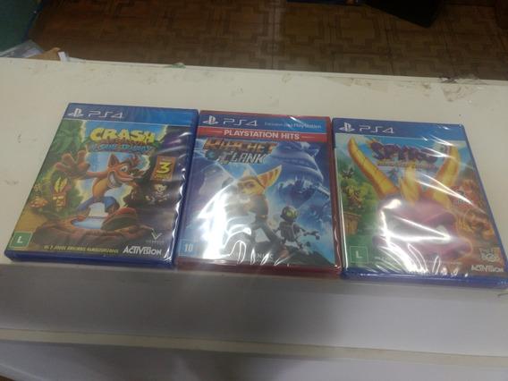 Crash Bandicoot Trilogy + Spyro Trilogy + Ratchet + Psn