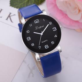Relógio Feminino Import. Lvpai Pulseira Azul Pronta Entrega