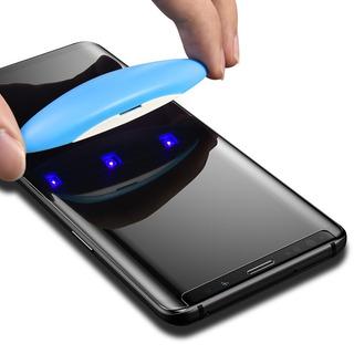 Vidrio Templado Samsung S8 S8 Plus S9 S9 Plus Símil Dome Glass + Lampara Uv #