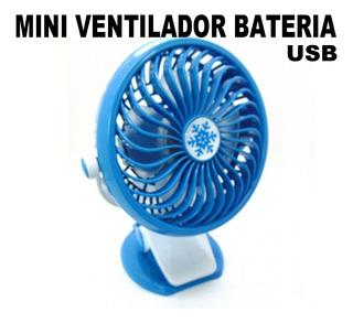Mini Ventilador Por Usb Bateria Recargable