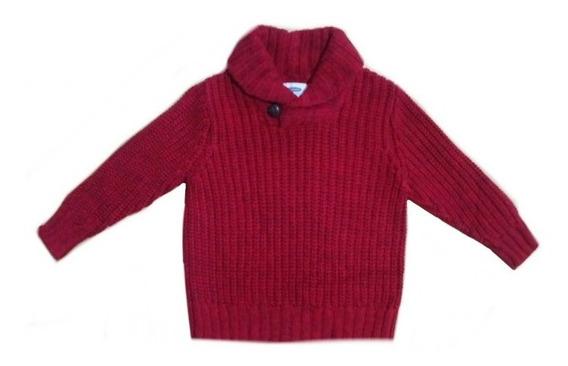 Sueter Old Navy Color Rojo Para Bebe, Unisex Super Bello
