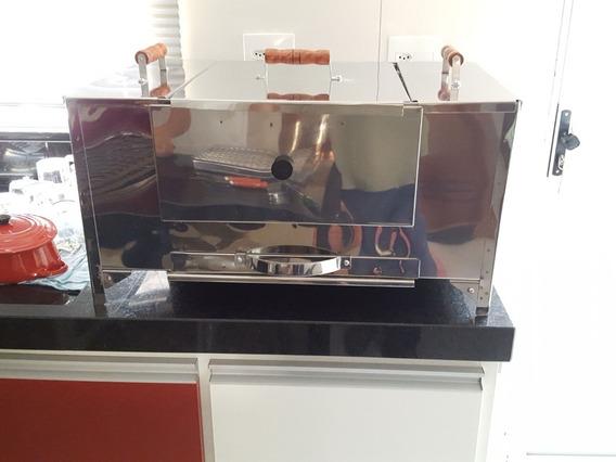 Churrasqueira Sem Fumaça Com Forno Bafo Pizza 55x45x25 Cm