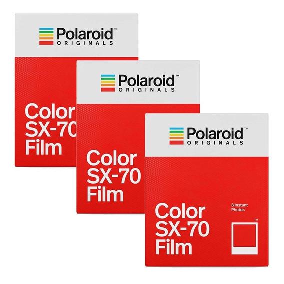 Filme Polaroid Originals Color Sx-70 3x Tri Pack