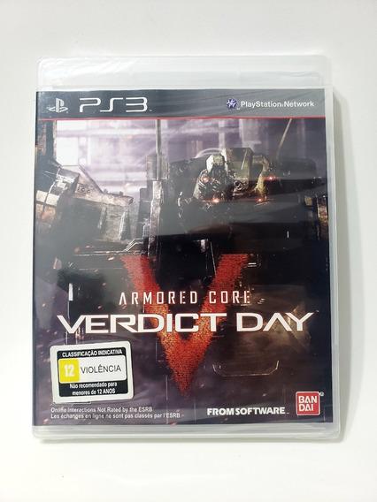 Jogo Armored Core V Veredict Day Ps3 Míd Física Novo Lacrado