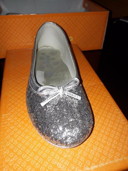 Zapatos Ballerina Gliter Plata