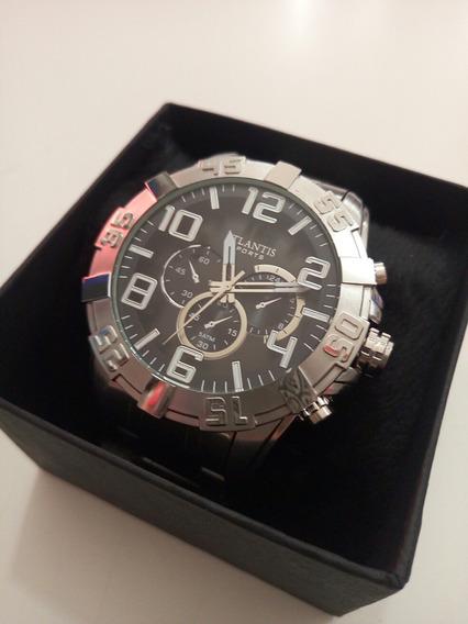 Relógio Ecome Prateado Série Luxo Mod. A3361