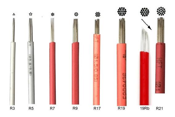 50 Navajas Microblading Redondas Microshading Agujas