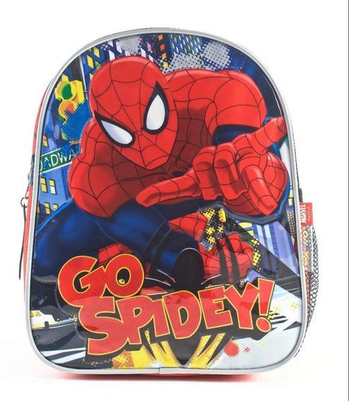 Mochila Escolar Spiderman 12 Pulgadas Excelente Calidad