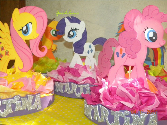 6 Centro De Mesa C Servilletero My Little Pony Pequeño Pony