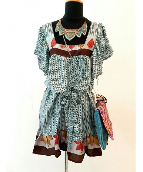 Vestido Camisola Seda Natural Importadas Ropa Indumentaria