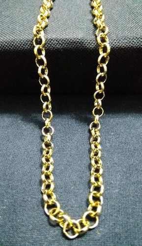 Corrente/colar Elo Português Portuguesa 60 Cm Banho Ouro 18k