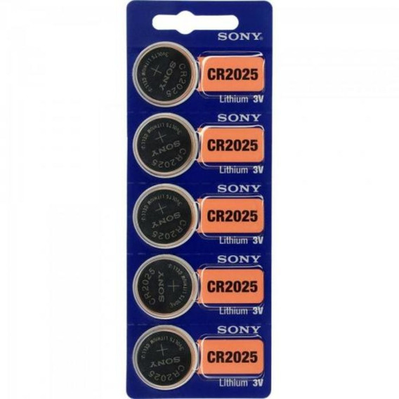 5 Pilhas Tipo Moeda Da Sony Cr2025 Para Relógios Eletrônicos