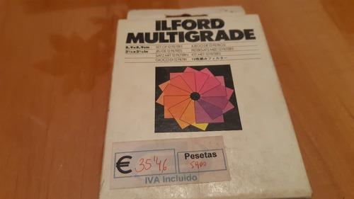 Filtros Ilford Multigrade Para Ampliadora Fotografica