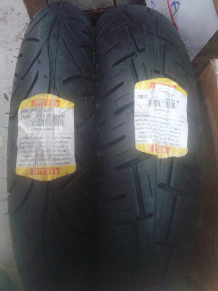 Pneu Shineray Par Pirelli 110 90 16 + 130 90 15