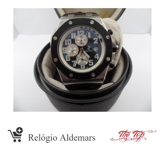 Relógio Audemars Automático Pulseira Couro