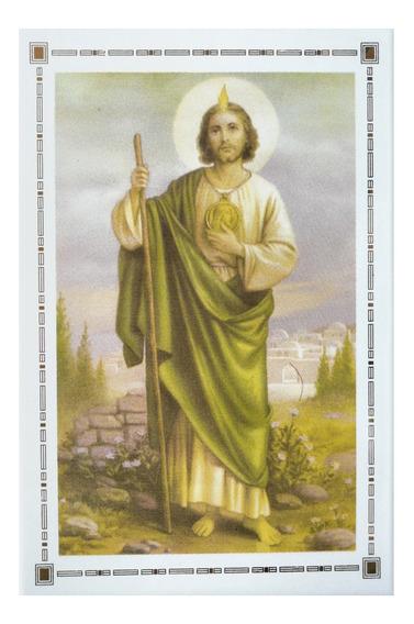 San Judas Tadeo Azulejo Decorado 21x31 Exterior Primera