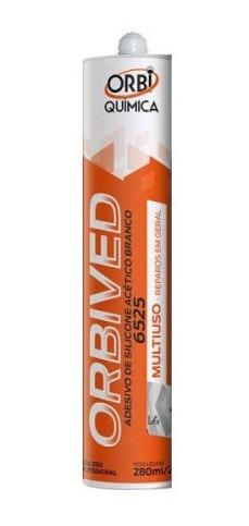 Orbived Adesivo Silicone Acetico 250g - Branco Pn# 6525