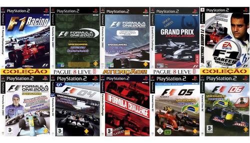 Formula 1 Coleção (10 Dvds) Ps2 Patch Formula One