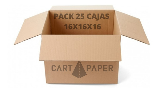Imagen 1 de 2 de Cajas De Cartón 16x16x16 / Pack 25 Cajas / Cart Paper