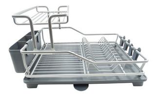 Escurridor Aluminio 2 Niveles Gris Co-440222 Namaro Design