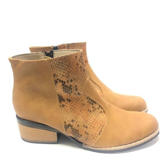 Tejanas Reptil De Caña Baja Zapatos Botas
