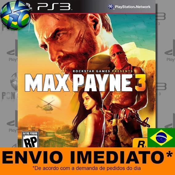 Jogo Ps3 Max Payne 3 Psn Play 3 Legendas Pt Br Envio Digital