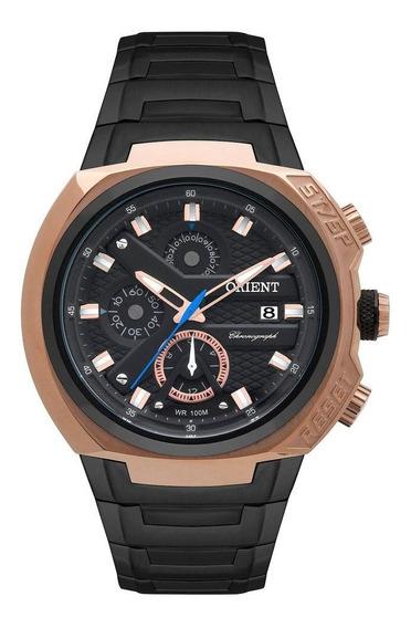 Relógio Masculino Orient Mtssc014p1px - Preto/rosê