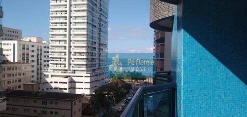 Apartamento Com 2 Dormitórios À Venda, 159 M² Por R$ 520.000,00 - Canto Do Forte - Praia Grande/sp - Ap0557