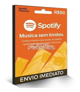 Cartão Spotify Premium - R$ 50 Reais - Assinatura 3 Mêses