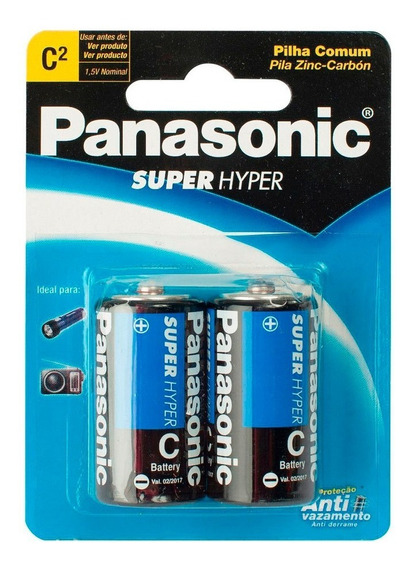 Pila Panasonic C Juguetes Lamparas Uso Rudo Grande Gorda Durable