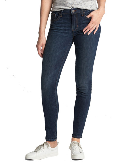 Jeans Dama Pantalón Mezclilla Mujer V-legging Dark Blue Gap
