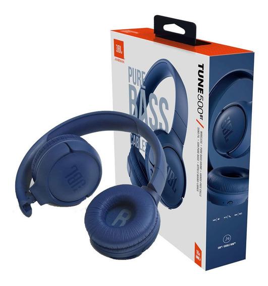 Fone Jbl T500bt Bluetooth Azul