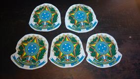 Adesivo Republica Federativa Do Brasil 12cm 5 Unidades