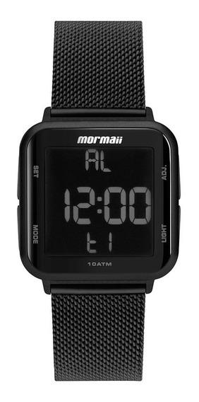 Relógio Mormaii Digital Preto Pulseira Ajustável - F. Grátis