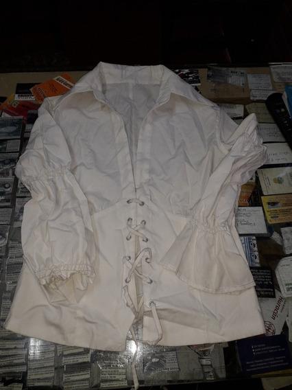 Camisa Acordonada Mujer