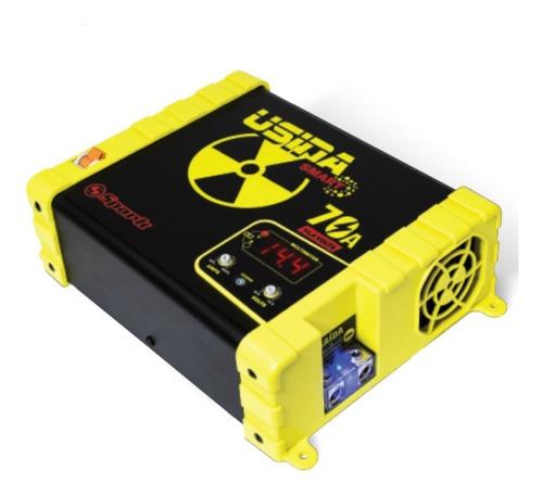 Fonte Carregador Bateria Usina Spark 70a Plus 12v Voltimetro